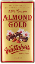 Whittakers Almond Gold