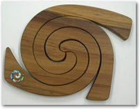 Triple Tablemat with Inlaid Paua Koru