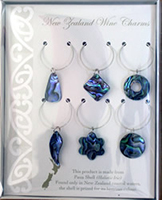 Paua Wine Charms