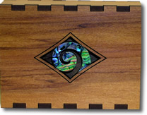 Business Card Box with Paua Koru