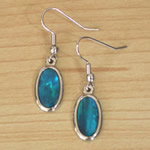 Dyed Paua Oval Earrings