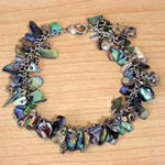 Natural Paua Shell Chips Bracelet