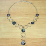 Paua and Silver Disc Necklace
