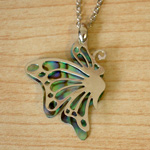 Overlaid Butterfly Pendant