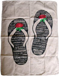 NZ Christmas Tea Towel