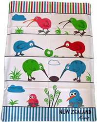NZ Kiwi Tea Towel