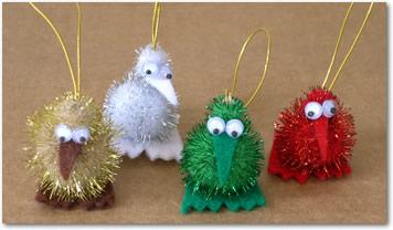 Christmas tree decorations for Decoration kiwi
